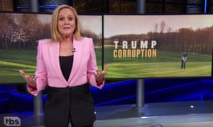 "Samantha Bee: ""It sucks that the US government is now just a coupon for the president's shitty resorts. We used to consider ourselves the greatest country on earth; now we're basically an Expedia pop-up."""