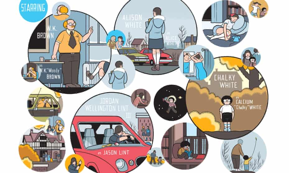 A detail from Rusty Brown by Chris Ware.