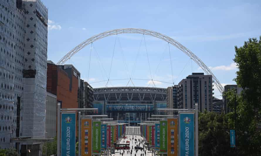 Wembley Way decked out with Euro 2020 banners