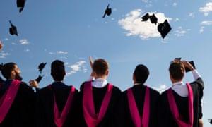 University graduates at graduation ceremony, Warwick
