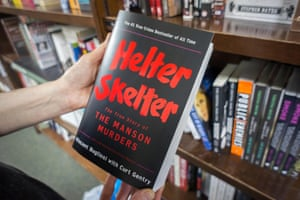 A copy of the book Helter Skelter, written by Vincent Bugliosi, who prosecuted Manson. It became one of the bestselling true crime stories ever published