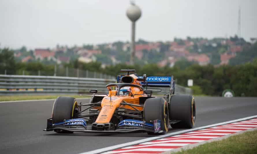 McLaren's Carlos Sainz during the first practice session at the Hungaroring.