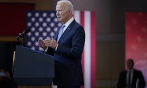 President Joe Biden delivers a speech on voting rights at the National Constitution Center in Philadelphia on Tuesday.
