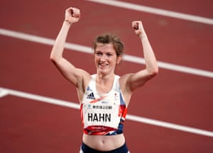 Great Britain's Sophie Hahn celebrates winning gold in the women's 100m T38.