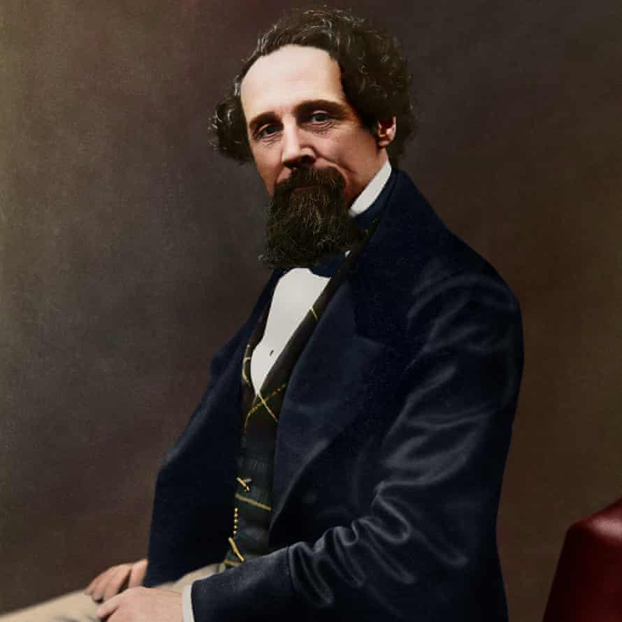 Oliver Clyde's colourised version of a black and white photograph of Charles Dickens taken in 1859.