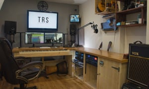Oliver Lyu's studio, which he recently built in his home in west London.