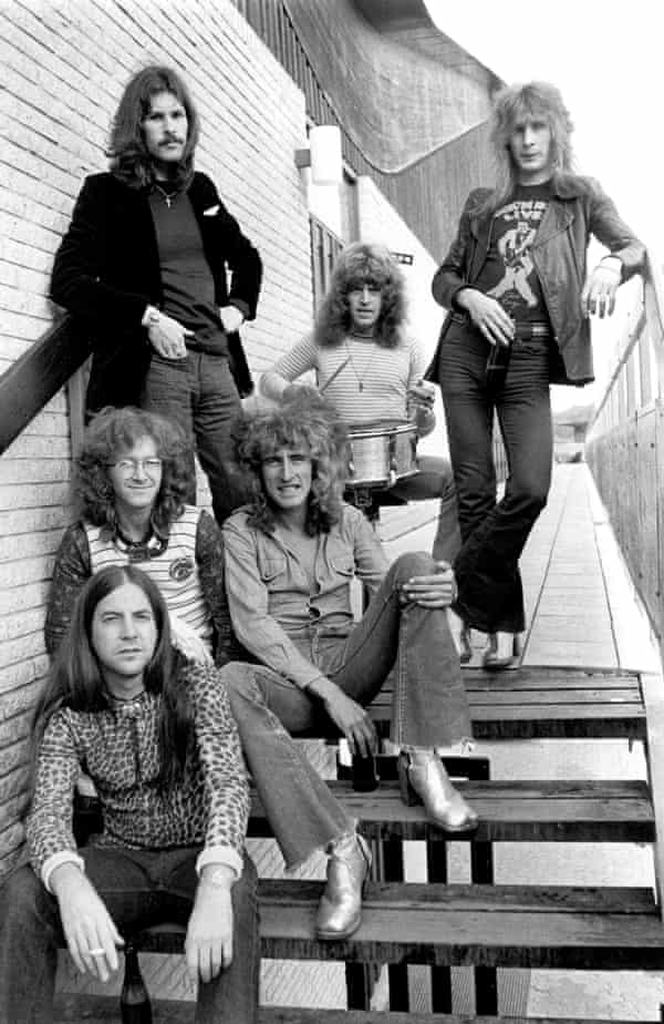 The Pretty Things in 1973, with Phil May, front.