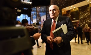 Rudy Giuliani in the lobby of Trump Tower in 2016. Giuliani pushed for Zarrab to be released as part of a potential prisoner swap, the New York Times reported.