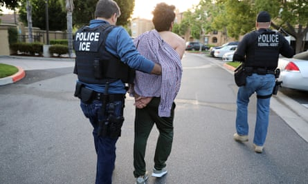 US Immigration and Customs Enforcement (ICE) arrest man