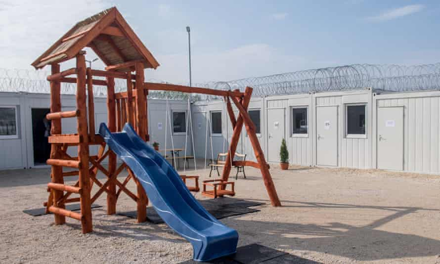 A detention camp for asylum seekers near Hungary's southern border with Serbia.