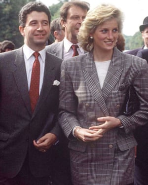 Patrick Jephson with Diana at the Burghley horse trials in 1989.