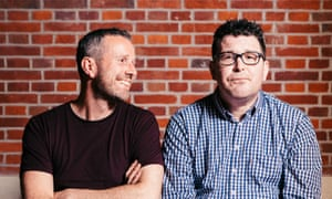Football Weekly - Max Rushden and Barry Glendenning, photographed for The Guardian, 22/05/2018.