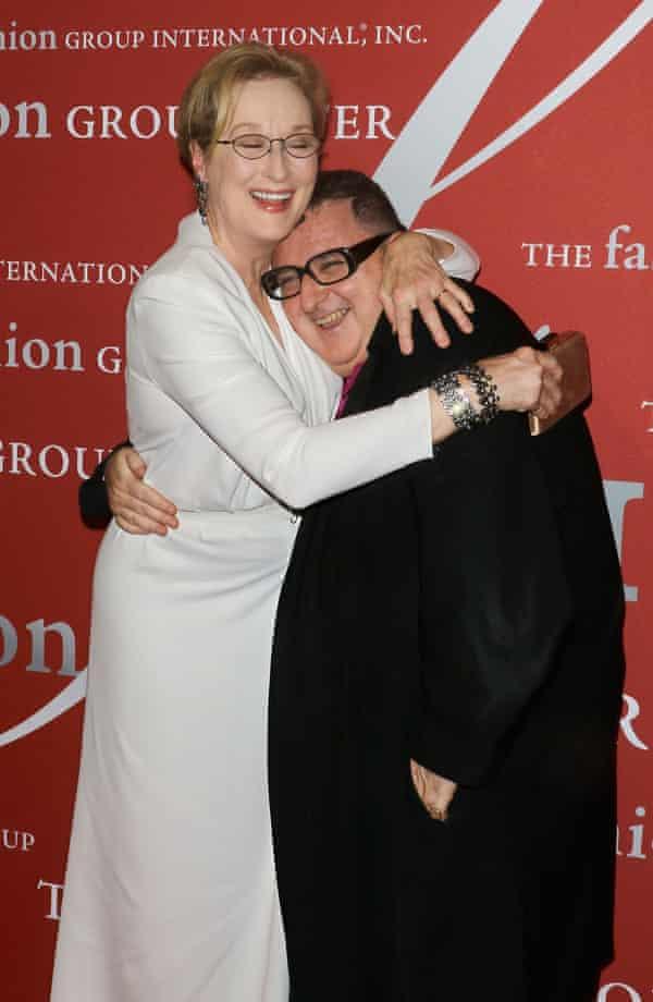 Alber Elbaz with Meryl Streep in New York in 2015.
