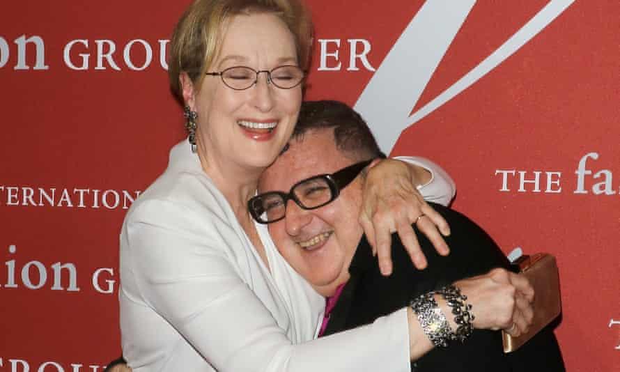 Actress Meryl Streep and designer Alber Elbaz
