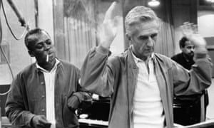 Miles Davis with Gil Evans, the arranger on the Avakian co-produced Miles Ahead and other classic albums.