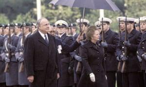 Helmut Kohl and Margaret Thatcher.
