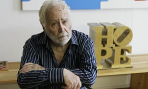Robert Indiana in his studio in Vinalhaven, Maine, in 2009.