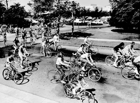 A Bicycle and Equestrian Day in Los Angeles in September 1971.
