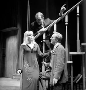 Hardy starred alongside Diane Cilento in the play I've Seen You Cut Lemons, which marked the West End directorial debut of Cilento's husband, Sean Connery, pictured here directing the pair
