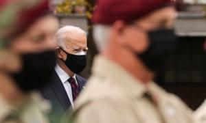 President-elect Joe Biden attends a Veterans Day observance in Philadelphia.