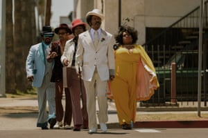 Eddie Murphy, centre, as Rudy Ray Moore in Craig Brewer's Dolemite Is My Name.