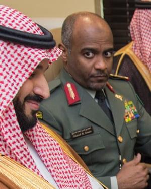 General Ahmed al-Assiri with Mohammed bin Salman Al Saud in 2016