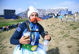 A spectator dressed as French cartoon character Obelix.