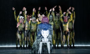 Devilish choir … Christopher Purves as Mephistopheles in The Damnation of Faust at Glyndebourne.