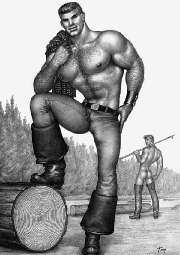 Illustration by Touko Laaksonen, aka Tom of Finland, who once drank at the Spijker.