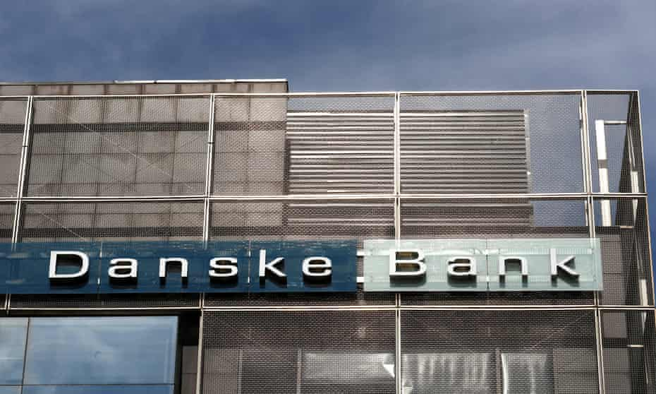 Danske Bank sign is seen at the Estonian branch in Tallinn