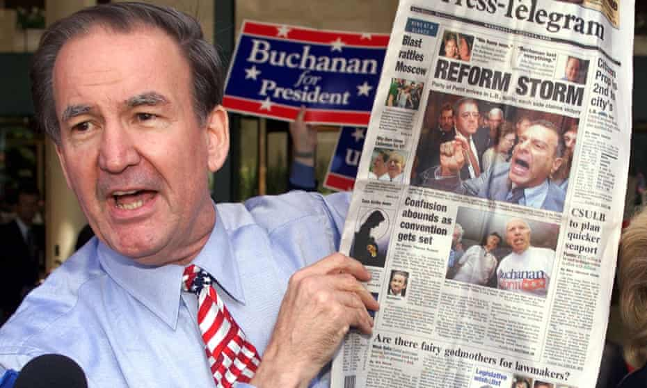 Pat Buchanan, paleo-conservative, campaigns in 2000.