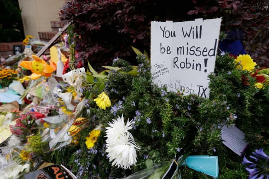 A memorial for Williams in San Francisco.