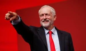 Jeremy Corbyn after winning leadership.