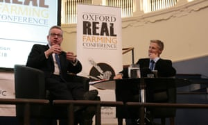 Environment secretary Michael Gove and Zac Goldsmith MP at the Oxford Real Farming Conference.