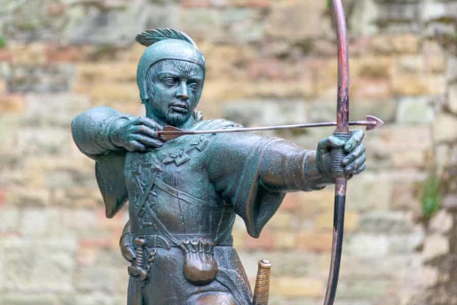 A statue of Robin Hood