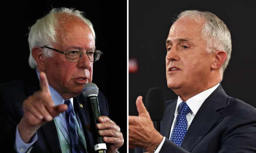 Bernie Sanders and Malcolm Turnbull