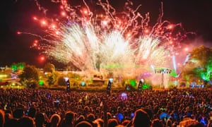 Out with a bang: fireworks at the Secret Garden Party.