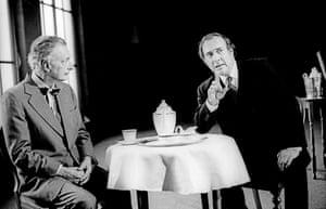 No Man's LandPaul Eddington (Spooner) and Harold Pinter (Hirst) directed by David Leveaux. Almeida Theatre, 1995