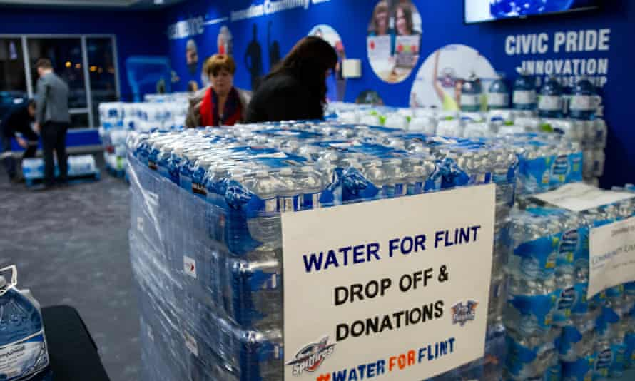 Residents of Flint, Michigan, have had to use bottled water after the domestic supply was found to contain high levels of lead.