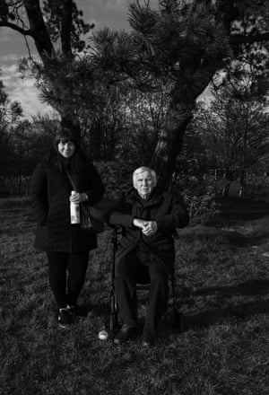 Residents, Rachael and her father Peter Cuel, who has dementia