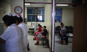 Pregnant women at the Guatemalan Social Security Institute. Some countries in Latin America have advised against pregnancy during the Zika epidemic.