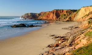 The Algarve's western coast is studded with sandy beaches. Pictured is Praia do Amado.