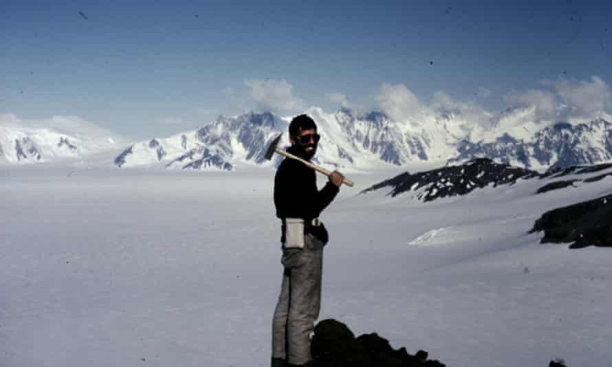 Dr Malcolm Hole in the Antarctic.