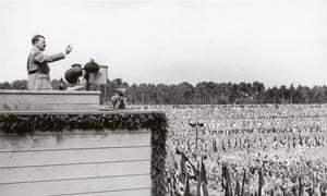 Came to power with clear purposes in mind … Hitler addresses a rally in Nuremberg, 1935.