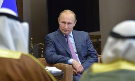 President Vladimir Putin at high level talks with Kuwaiti officials on Tuesday.