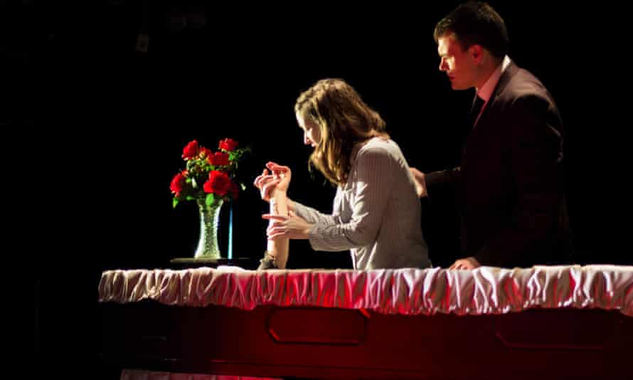 Alice Privett (Snow White) and Cliff Zammit Stevens (Servant) in Snow.