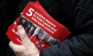 Pro-Brexit leaflets