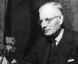 Australian prime minister John Curtin in 1944, at the BBC in London.