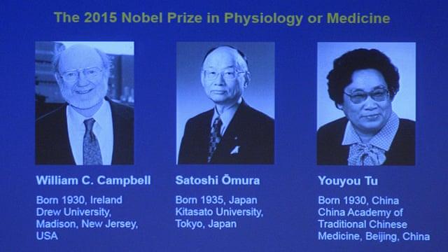 Nobel Tıp Ödülü Sıtma ve Parazit İlaçları Araştırmalarına Verildi