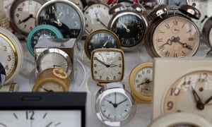 An array of clocks.
